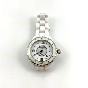 NWOT Akribos XXIV White Ceramic St Steel Watch
